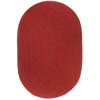 Handmade Red Area Rug Rug Size: Oval  4 x 6