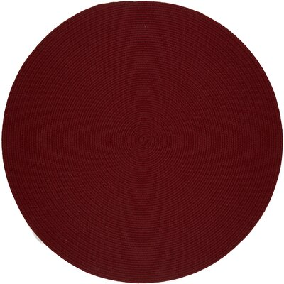 Handmade Barn Red Area Rug Rug Size: Round 6