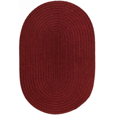 Handmade Barn Red Area Rug Rug Size: Oval  4 x 6