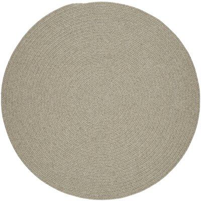 Handmade Light Gray Area Rug Rug Size: Round 6