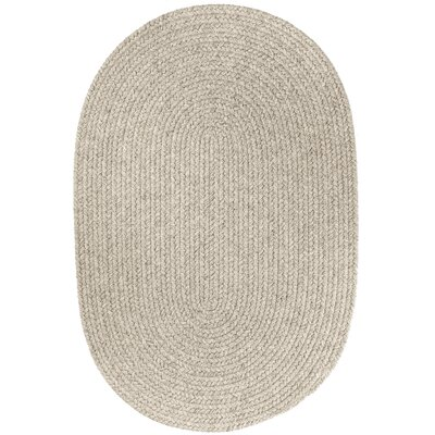 Handmade Light Gray Area Rug Rug Size: Oval  5 x 8