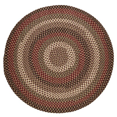 Handmade Brown Indoor/Outdoor Area Rug Rug Size: Round 10