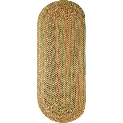 Camel Indoor/Outdoor Area Rug Rug Size: Oval Runner 2 x 6