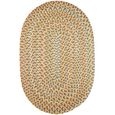 Handmade Beige Indoor/Outdoor Area Rug Rug Size: Oval 7 x 9