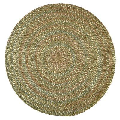 Handmade Olive Indoor/Outdoor Area Rug Rug Size: Round 8'