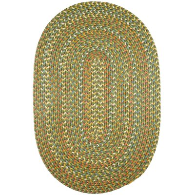 Handmade Olive Indoor/Outdoor Area Rug Rug Size: Oval 7 x 9