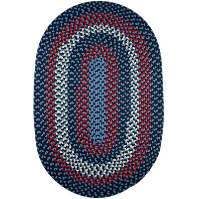 Handmade Evening Sky Indoor/Outdoor Area Rug Rug Size: Oval 7 x 9