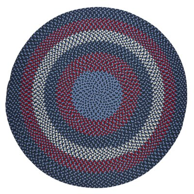 Handmade Evening Sky Indoor/Outdoor Area Rug Rug Size: Round 4'