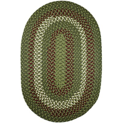 Handmade Greenmarket Indoor/Outdoor Area Rug Rug Size: Oval 10 x 13