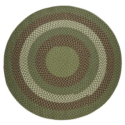 Handmade Greenmarket Indoor/Outdoor Area Rug Rug Size: Round 6