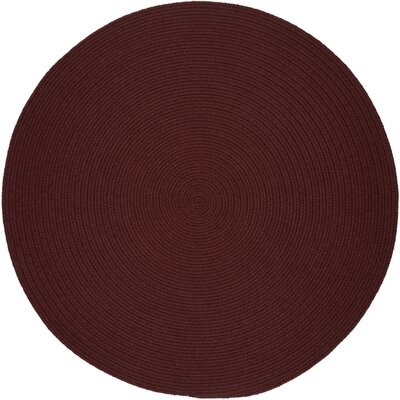 Handmade Burgundy Indoor/Outdoor Area Rug Rug Size: Round 10