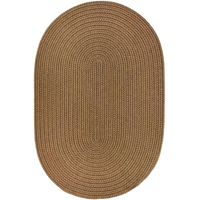 Handmade Light Brown Indoor/Outdoor Area Rug Rug Size: Oval 8 x 11
