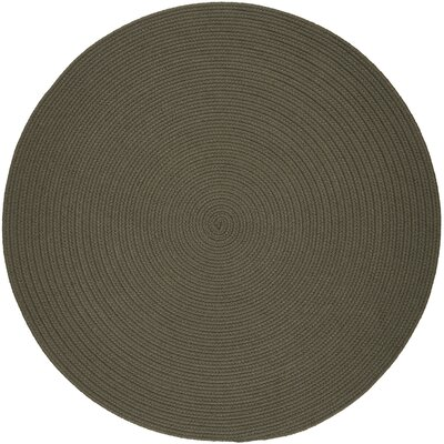 Handmade Gray Indoor/Outdoor Area Rug Rug Size: Round 6