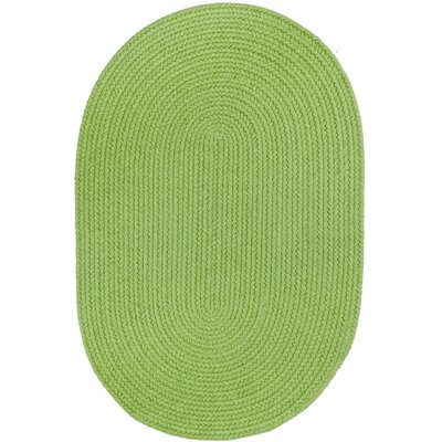 Handmade Lime Indoor/Outdoor Area Rug Rug Size: Oval  4 x 6