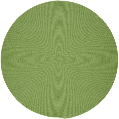 Handmade Lime Indoor/Outdoor Area Rug Rug Size: Round 10