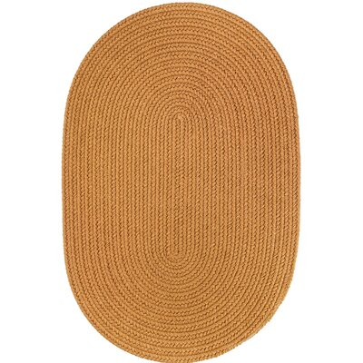 Handmade Gold Indoor/Outdoor Area Rug Rug Size: Oval 3 x 5