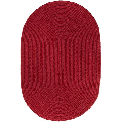 Handmade Brilliant Red Indoor/Outdoor Area Rug Rug Size: Oval 7 x 9