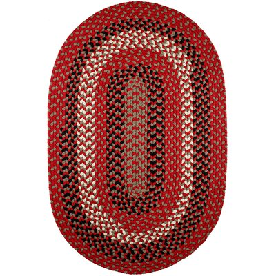 Handmade Red Brick Indoor/Outdoor Area Rug Rug Size: Oval 2 x 4