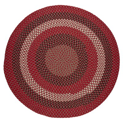 Handmade Red Brick Indoor/Outdoor Area Rug Rug Size: Round 6