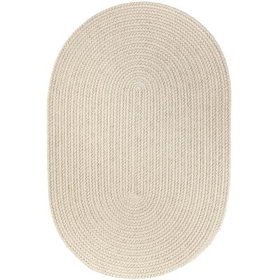 Handmade Beige Indoor/Outdoor Area Rug Rug Size: Oval  3 x 5
