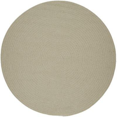 Handmade Beige Indoor/Outdoor Area Rug Rug Size: Round 8