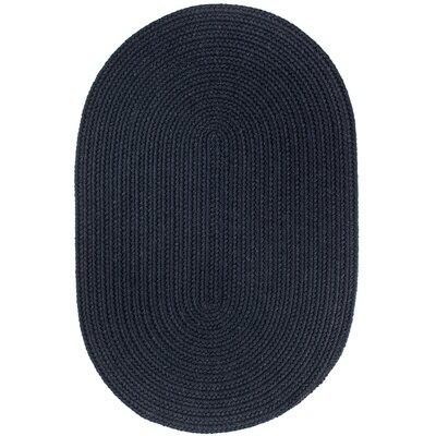 Handmade Navy Area Rug Rug Size: Oval 7 x 9