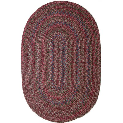 Burgundy/Red Indoor/Outdoor Area Rug Rug Size: Oval 2 x 4
