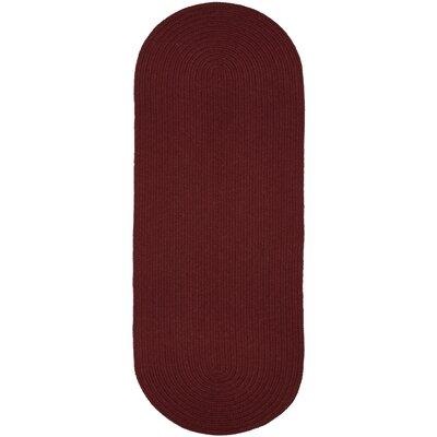 Handmade Red Wine Area Rug Rug Size: Runner 2 x 6