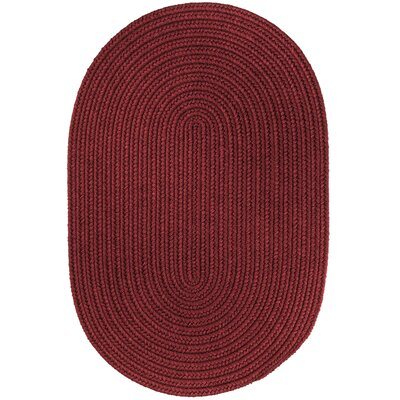 Handmade Red Wine Area Rug Rug Size: Oval 10 x 13