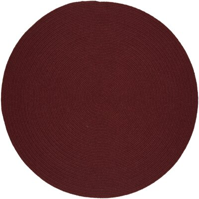 Handmade Red Wine Area Rug Rug Size: Round 4