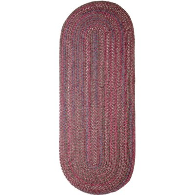 Burgundy/Red Indoor/Outdoor Area Rug Rug Size: Oval Runner 2 x 6