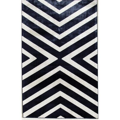 Navy/Cream Area Rug Rug Size: Runner 22 x 73