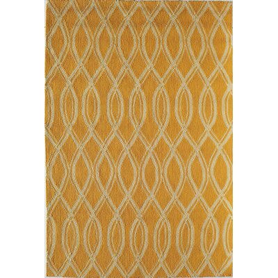 Yellow Indoor/Outdoor Area Rug Rug Size: Round 76