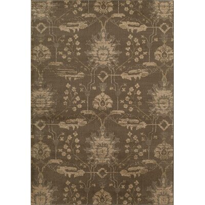 Brown Area Rug Rug Size: Round 53