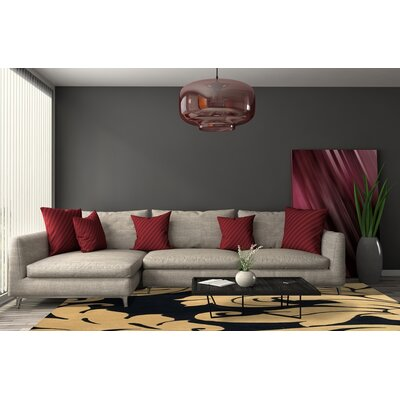 Hand-Tufted Brown/Black Area Rug Rug Size: Square 6