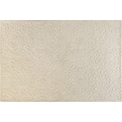Hand-Tufted Ivory Area Rug Rug Size: 36 x 56