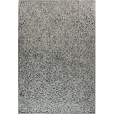 Hand-Tufted Light Blue Area Rug Rug Size: 86 x 116