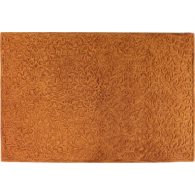 Hand-Tufted Spice Area Rug Rug Size: 36 x 56