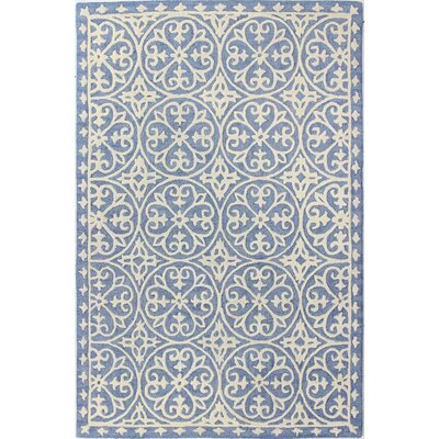 Hand-Tufted Denim Area Rug Rug Size: 5 x 76