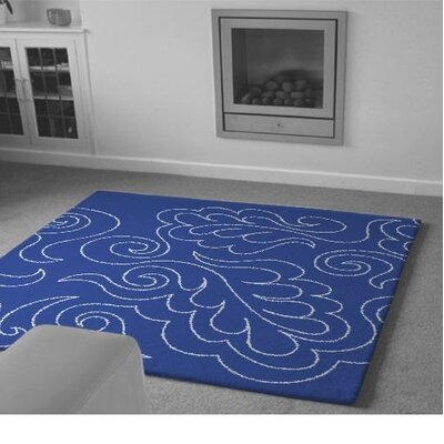 Warrendale Hand-Tufted Blue Area Rug Rug Size: 9 x 12