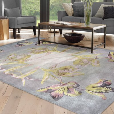 Hand Woven Gray/Green Area Rug Rug Size: Rectangle 5' x 8'