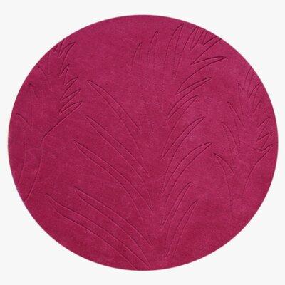 Hamer Hand-Tufted Fushsia Area Rug Rug Size: Round 4