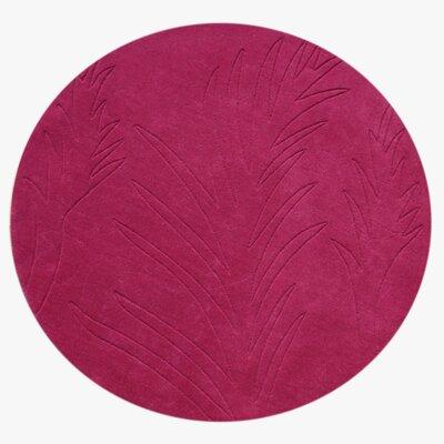 Hamer Hand-Tufted Fushsia Area Rug Rug Size: Round 6