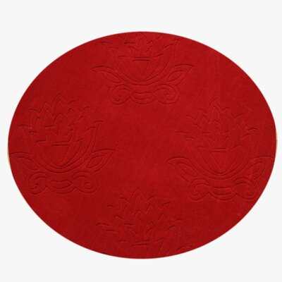 Burley Hand-Tufted Red Area Rug