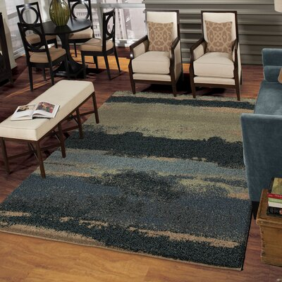 Cabell Gray/Blue Area Rug Rug Size: 9 x 13