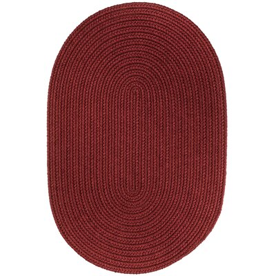Handmade Colonial Red Indoor/Outdoor Area Rug Rug Size: Round 4