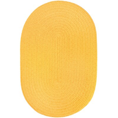 Handmade Yellow Indoor/Outdoor Area Rug Rug Size: Oval  2 x 4