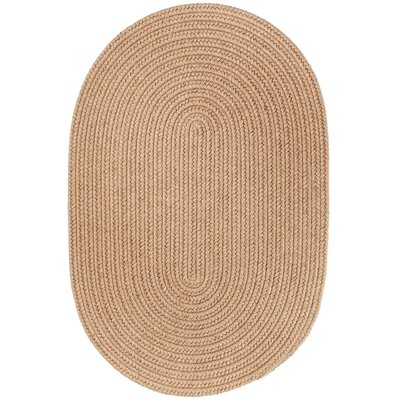 Handmade Taupe Area Rug Rug Size: Round 6
