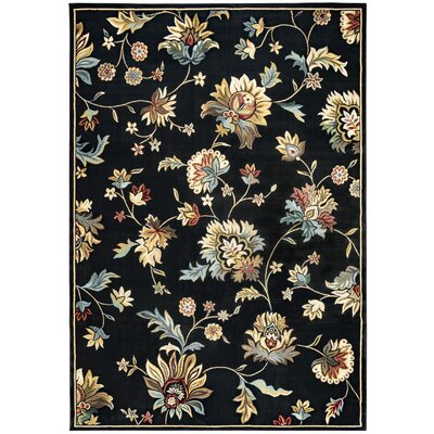 Black Area Rug Rug Size: Rectangle 53 x 77