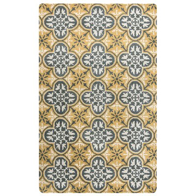 Hand-Tufted Gold/Yellow Area Rug Rug Size: Rectangle 5 x 8